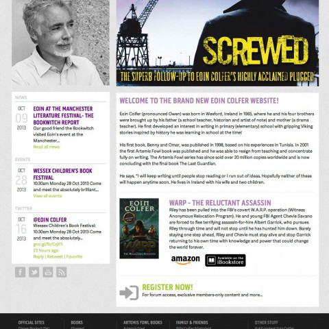Eoin Colfer Author Website