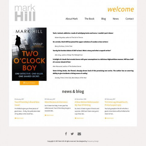 Mark Hill Author Website Design