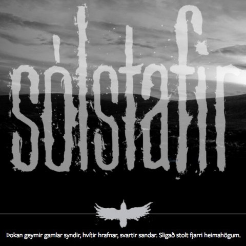 Sólstafir Band Website
